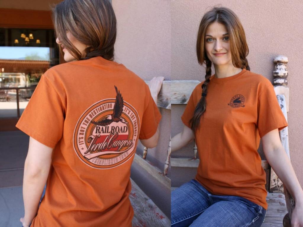Orange Verde Canyon Railroad T Shirt