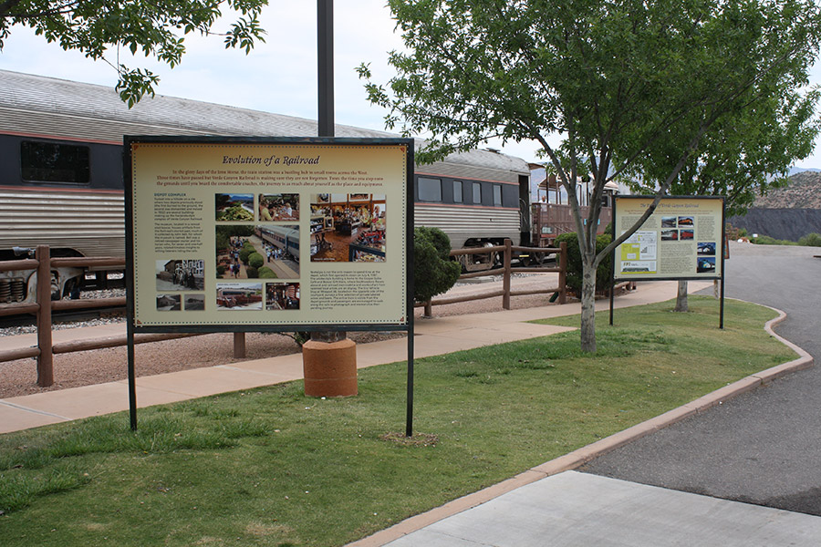 Verde Canyon Railroad History signs